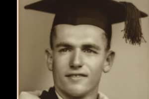 Bob Spearritt graduating.