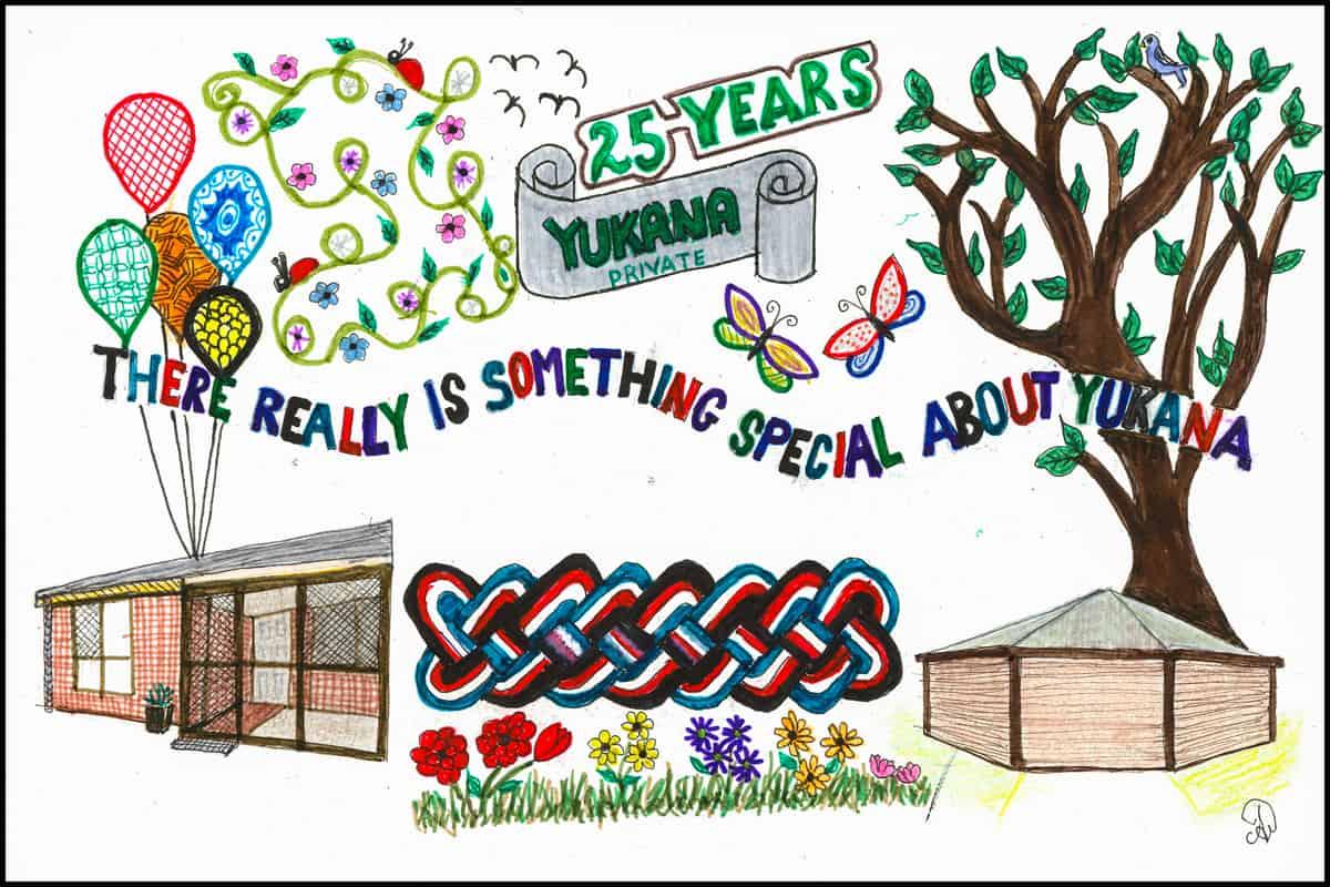 Artwork provided by a Yukana resident