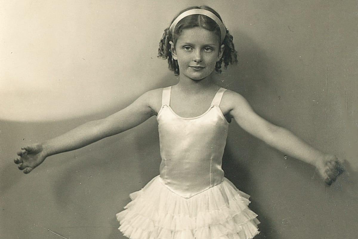 Yukana resident, Alma, learning ballet as a child