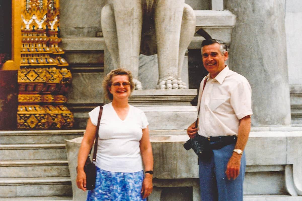 Yukana resident, Alma and her husband, Frank in Bangkok