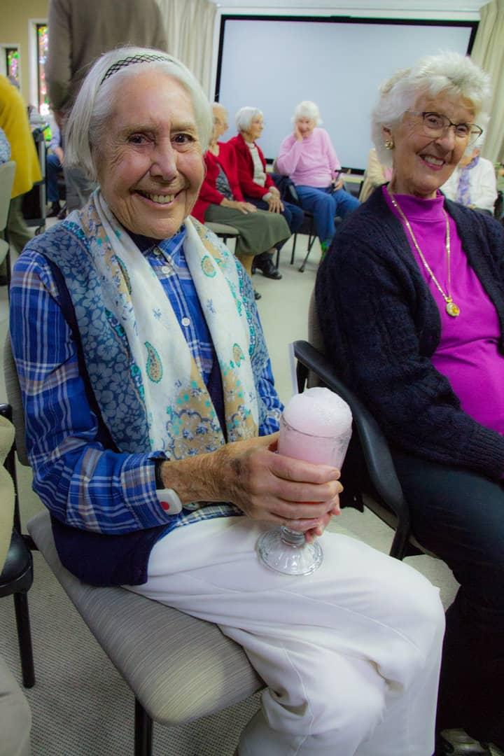 Residents enjoying ice-cream sodas at Yukana Private