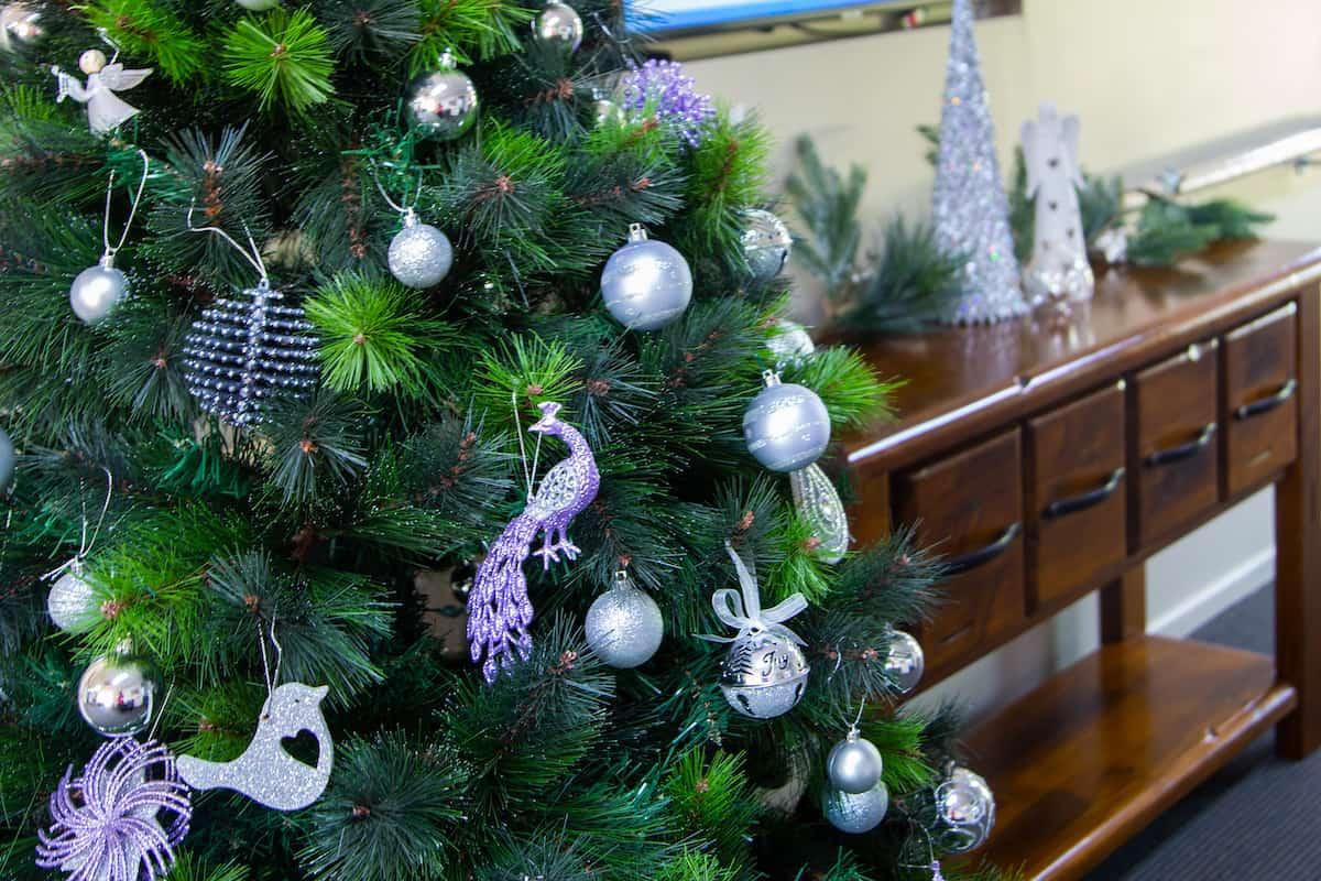Christmas decorations at Yukana Private - tree birds