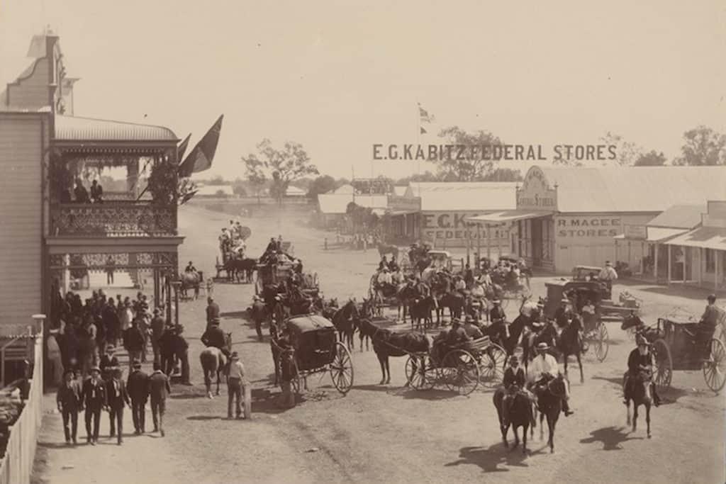 Moree main street c1910s (Source: Royal Australian Historic Society)